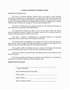 Fillable Alabama Power of Attorney Form