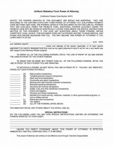 Fillable California Power of Attorney Form