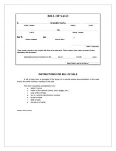 Fillable Iowa Vehicle Bill Of Sale Form