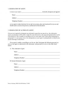 Fillable Nevada Power of Attorney Form