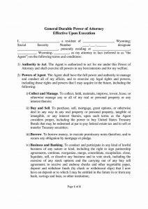 Fillable Wyoming Power of Attorney Form